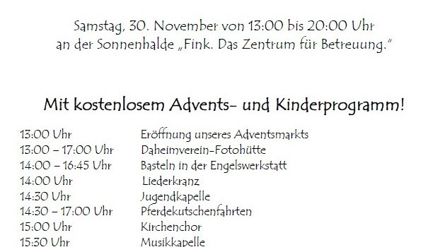 11. Heimenkircher Adventsmarkt